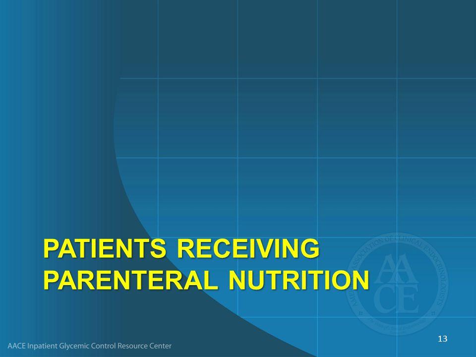 PatientS Receiving Parenteral Nutrition
