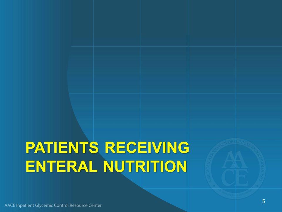 PatientS Receiving Enteral Nutrition