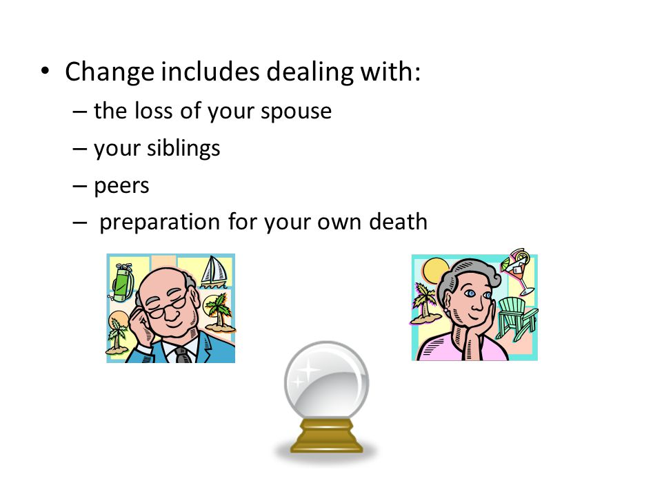 Change includes dealing with: