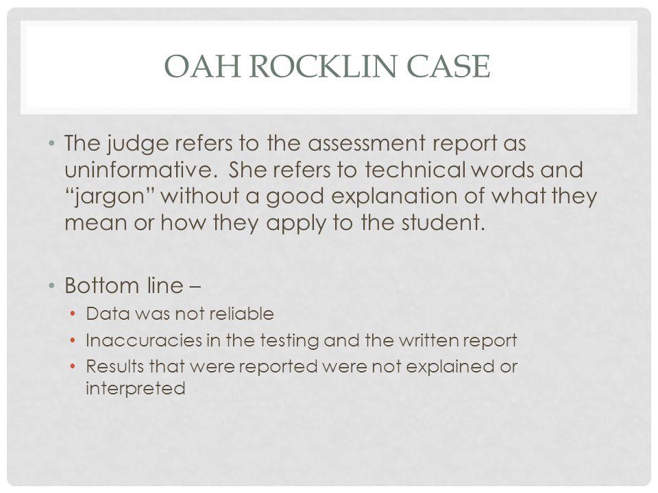 OAH rocklin case