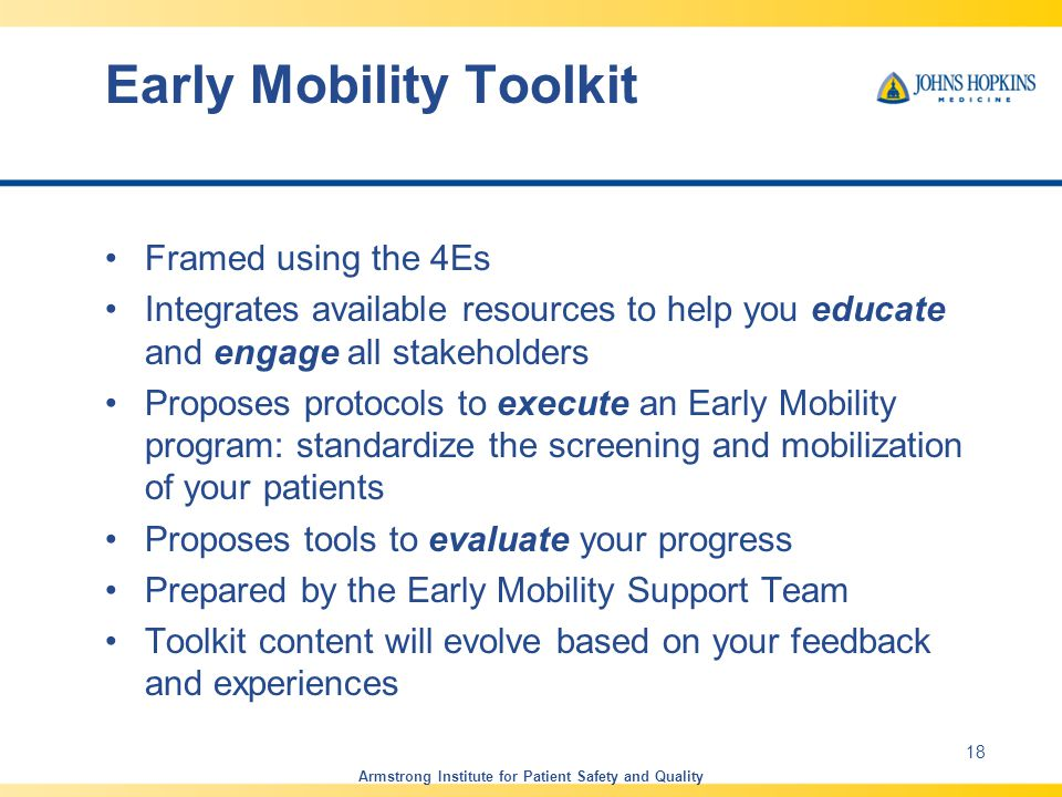Early Mobility Toolkit
