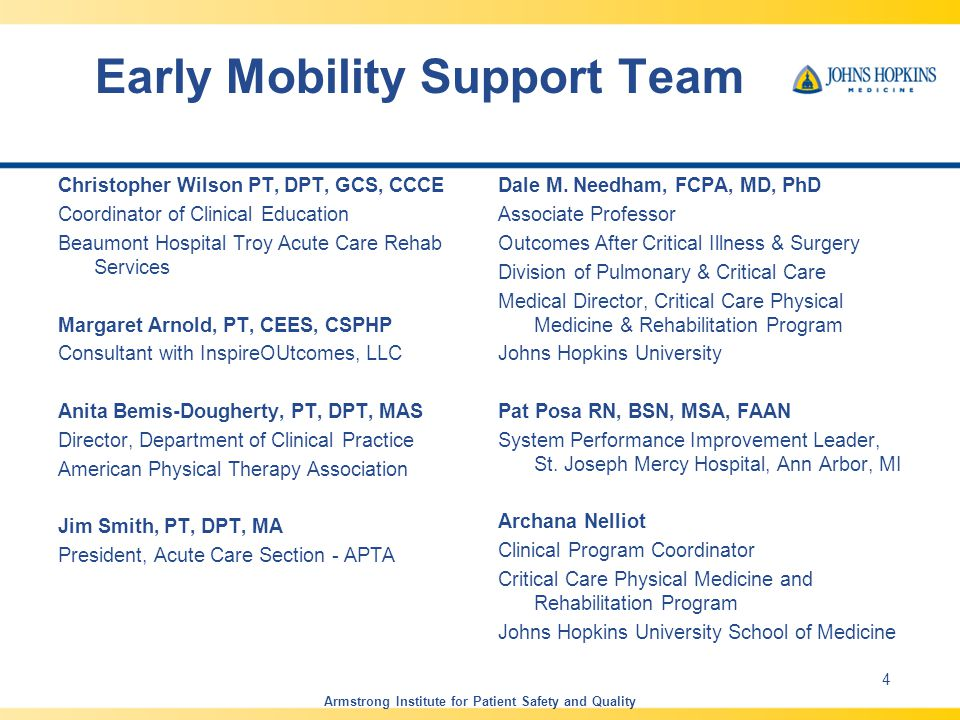 Early Mobility Support Team