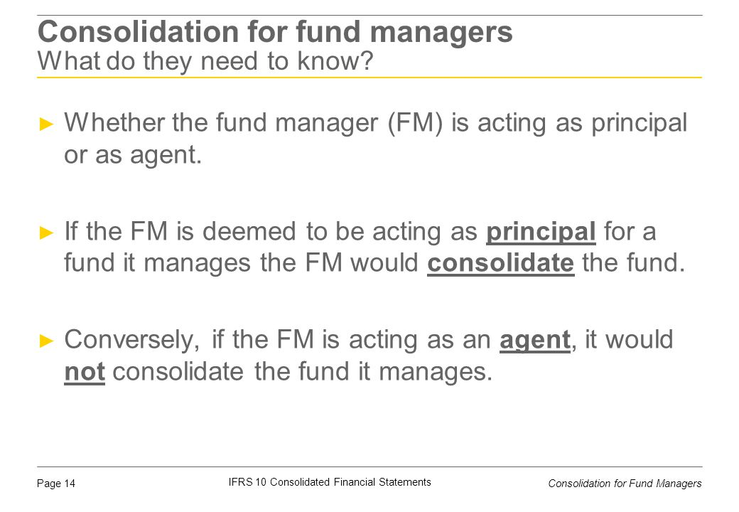 Consolidation for fund managers What do they need to know