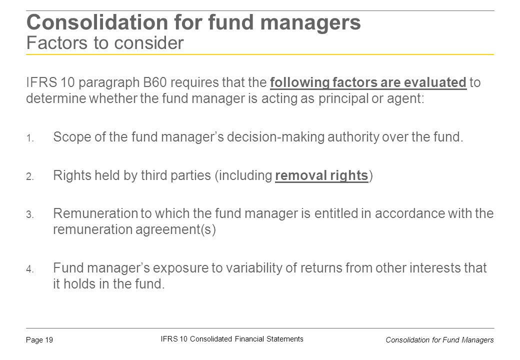 Consolidation for fund managers Factors to consider