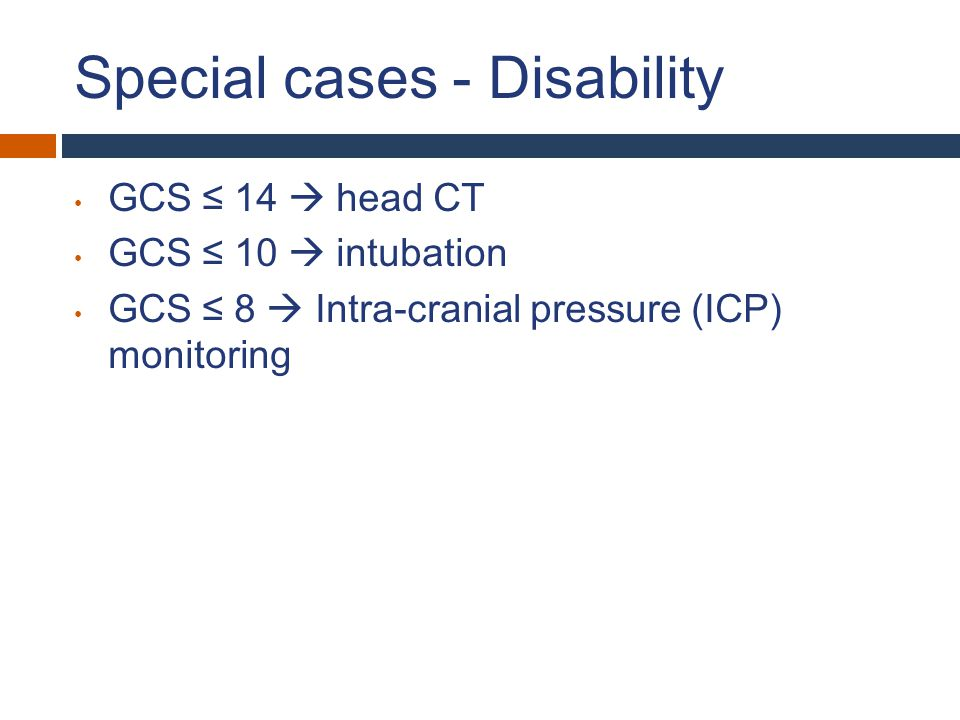 Special cases - Disability