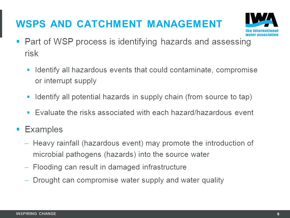WSPs AND Catchment Management