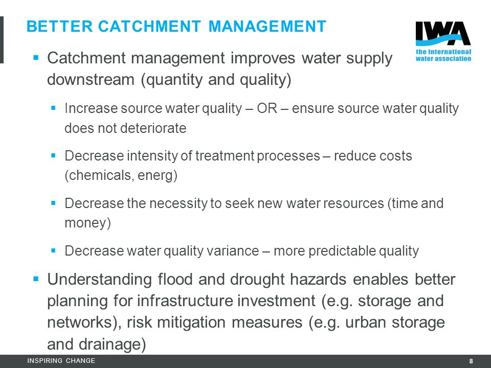 Better catchment management