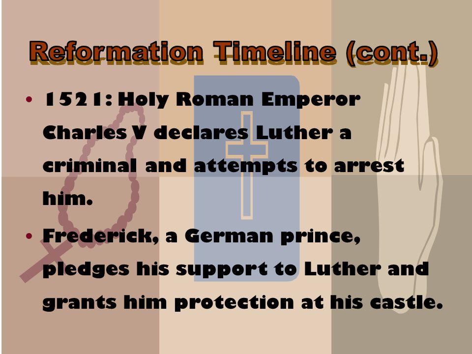Reformation Timeline (cont.)