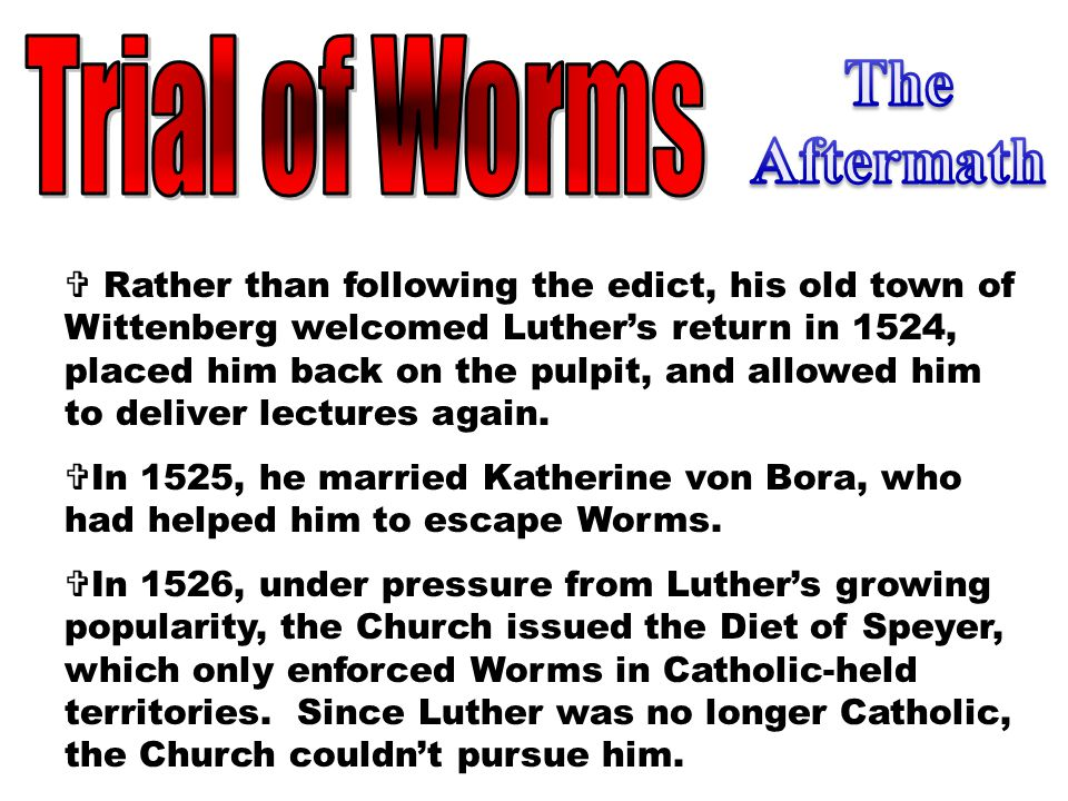 The Aftermath Trial of Worms