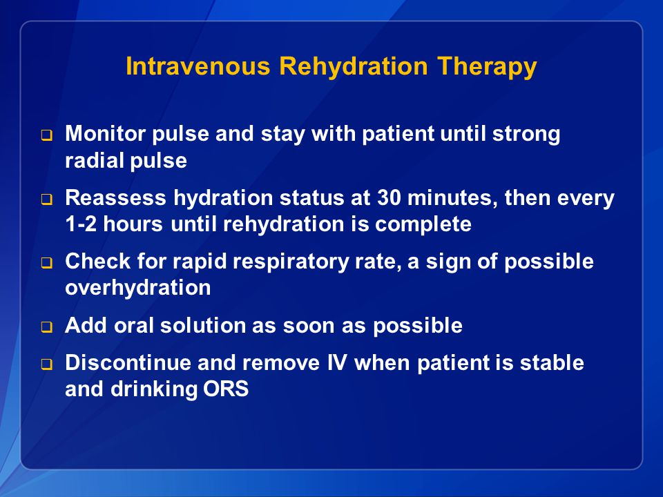 Intravenous Rehydration Therapy