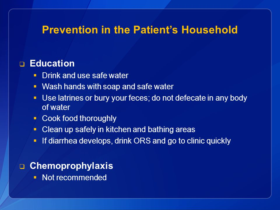 Prevention in the Patient's Household