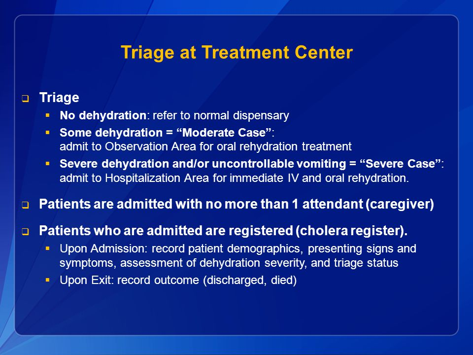 Triage at Treatment Center