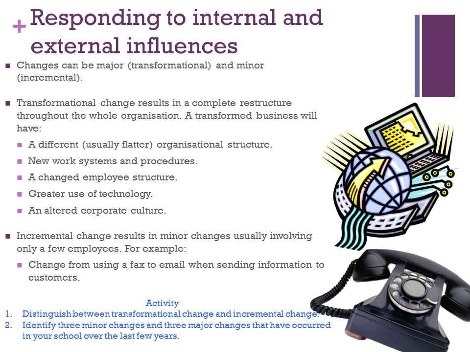 Responding to internal and external influences