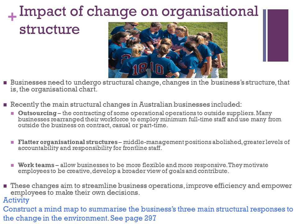 Impact of change on organisational structure