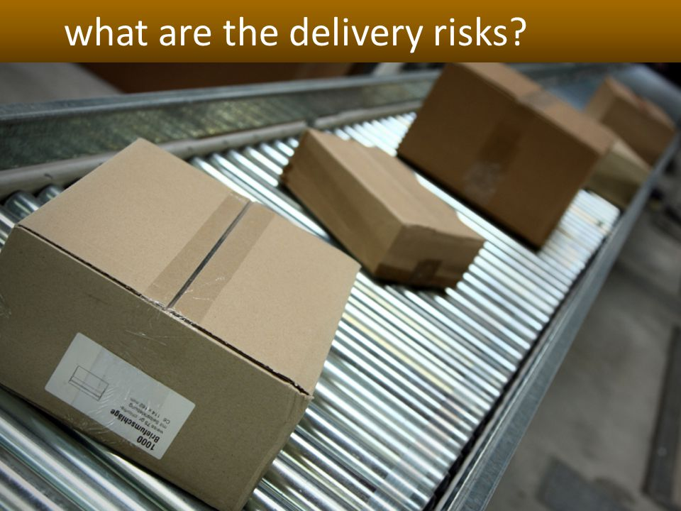 what are the delivery risks