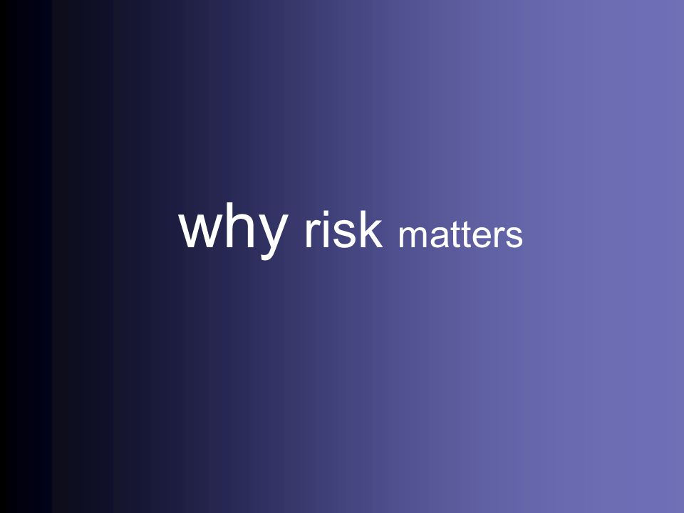 why risk matters 3