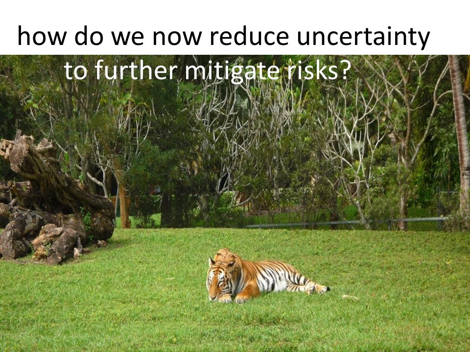 how do we now reduce uncertainty to further mitigate risks