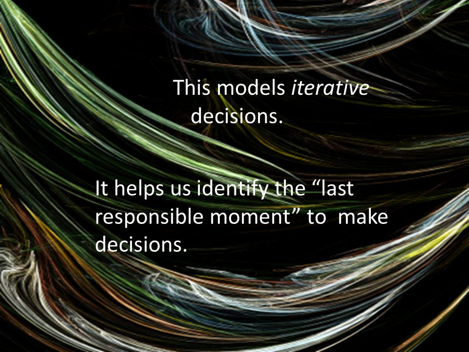 This models iterative decisions.