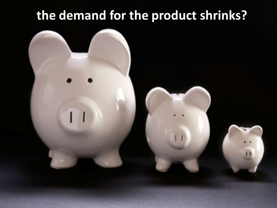 the demand for the product shrinks