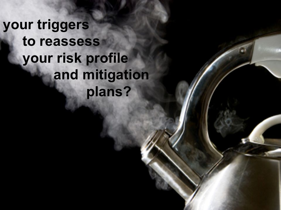 your triggers to reassess