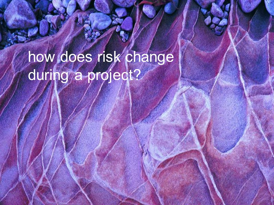 Project Management how does risk change during a project