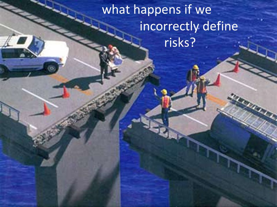 what happens if we incorrectly define risks