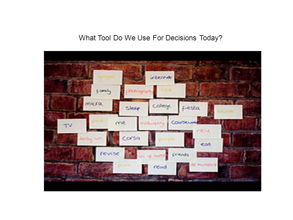 What Tool Do We Use For Decisions Today