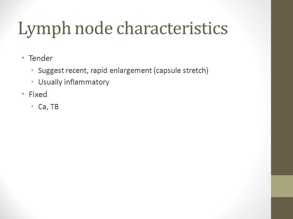Lymph node characteristics