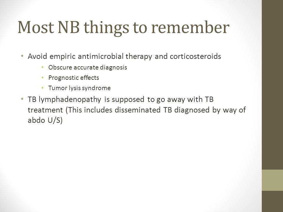 Most NB things to remember