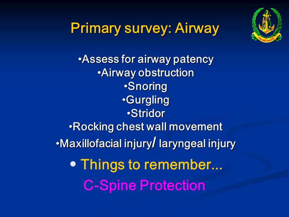 Primary survey: Airway