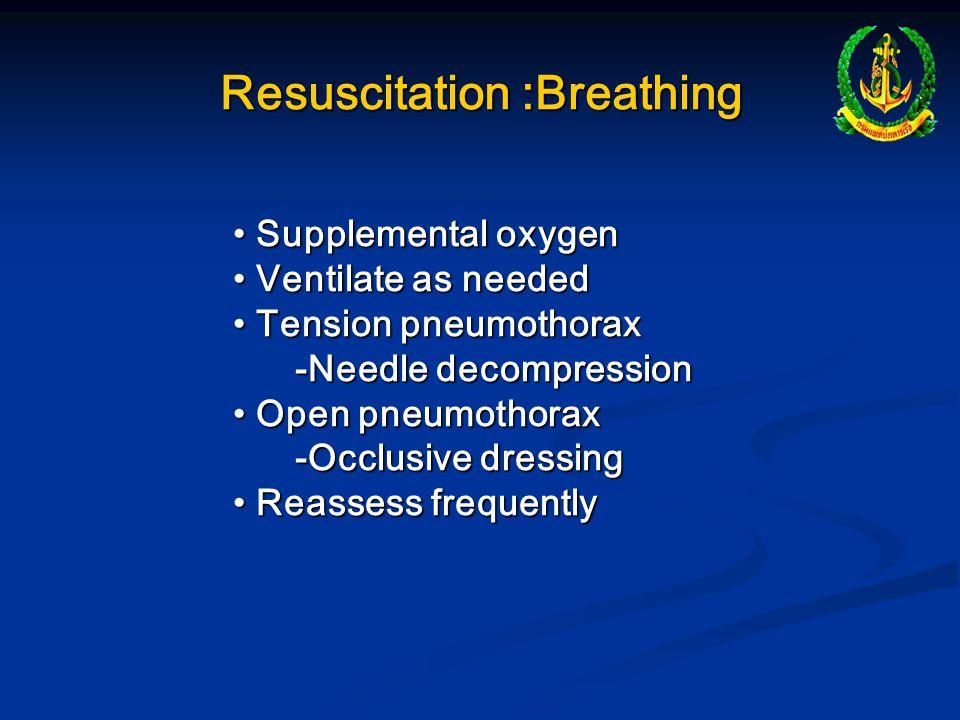 Resuscitation :Breathing