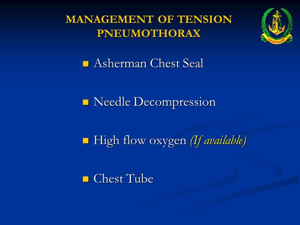 MANAGEMENT OF TENSION PNEUMOTHORAX