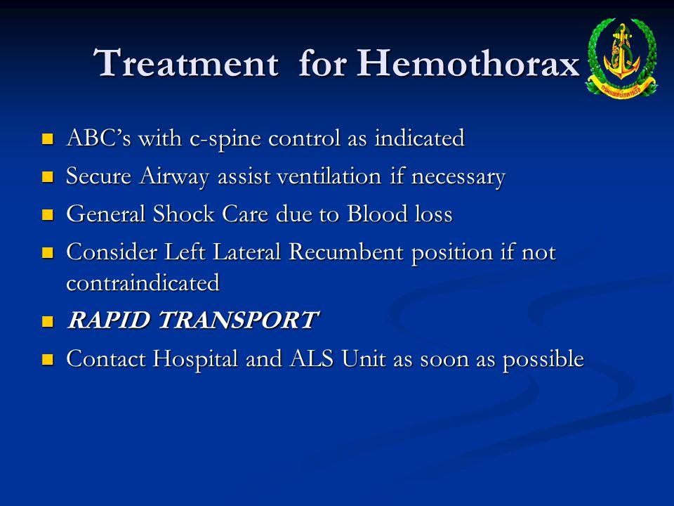 Treatment for Hemothorax