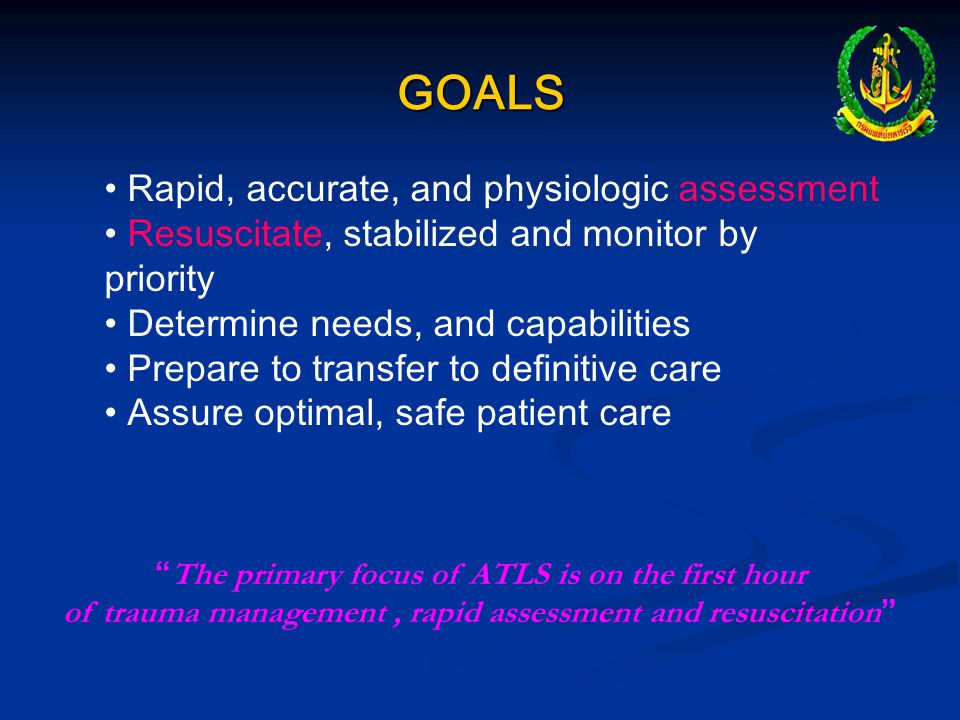 GOALS Rapid, accurate, and physiologic assessment