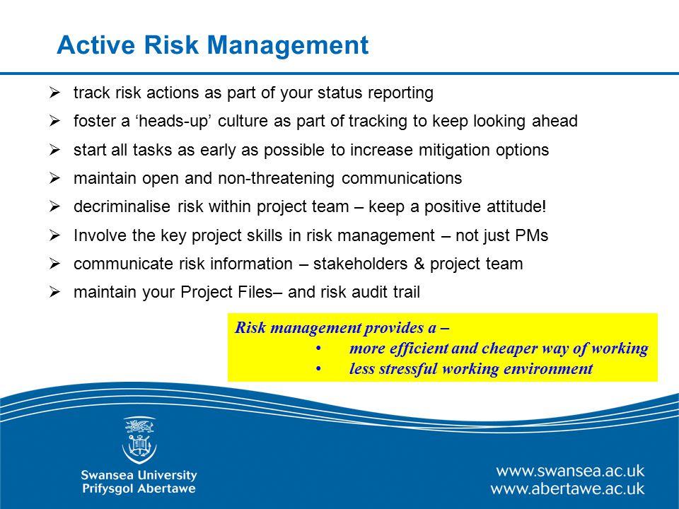 Active Risk Management