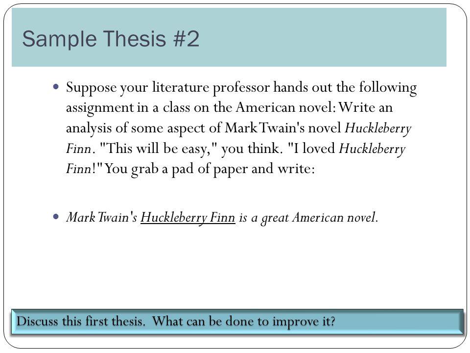 sample of analysis essay