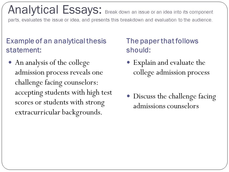 Essay About Science Thesis Statement For Analytical Essay Top Persuasive Essay Writers  Science Essay Questions also How To Write A High School Essay Analysis Essay Thesis  Elitamydearestco Physics Lab Report Helper