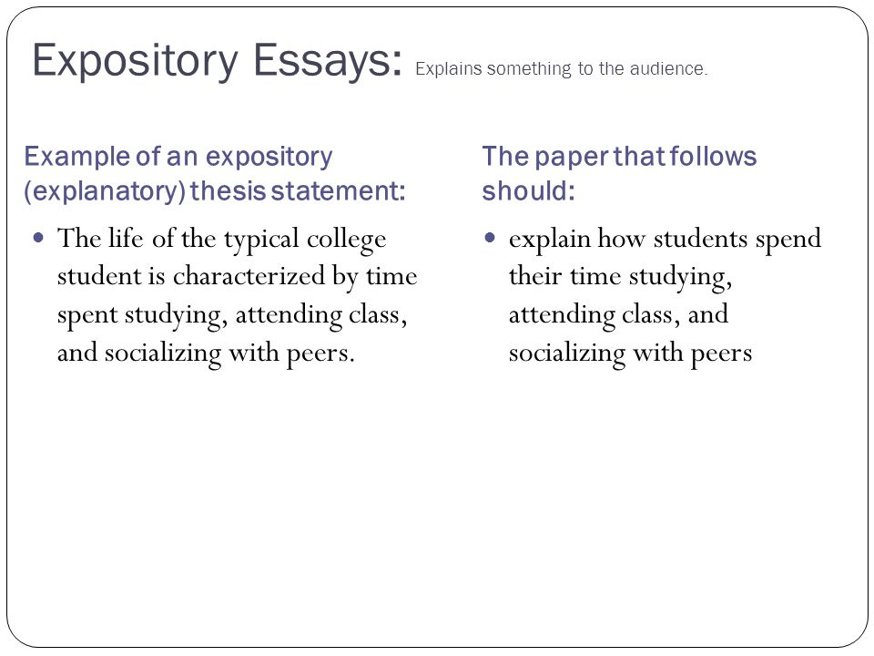 what characteristics make an essay expository How to write an expository essay writing an expository essay shouldn't be difficult at this point as with any piece, the first thing to start with is an outline organize all your thoughts.