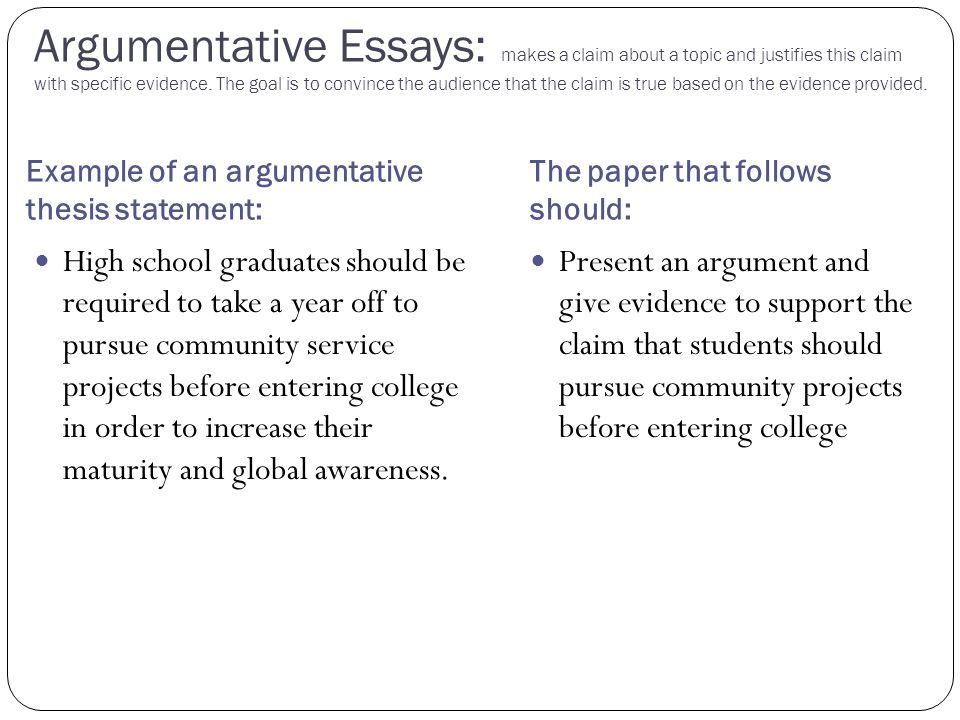 argumentative critique essay