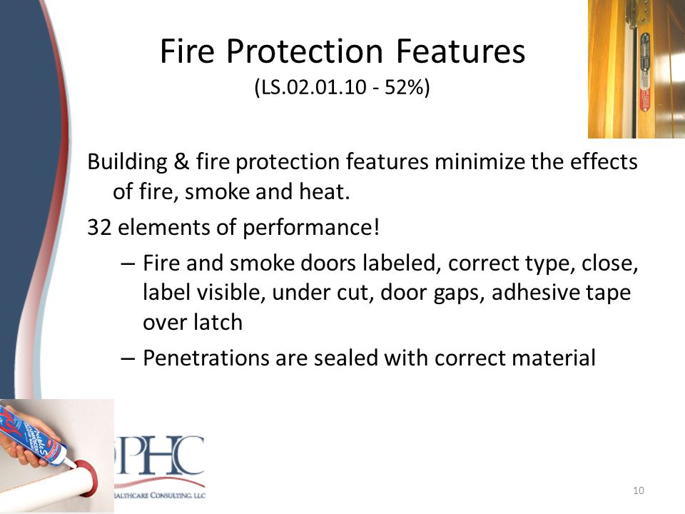 Fire Protection Features (LS.02.01.10 - 52%)