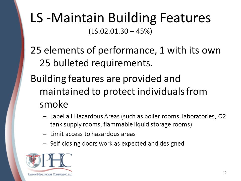 LS -Maintain Building Features (LS.02.01.30 – 45%)
