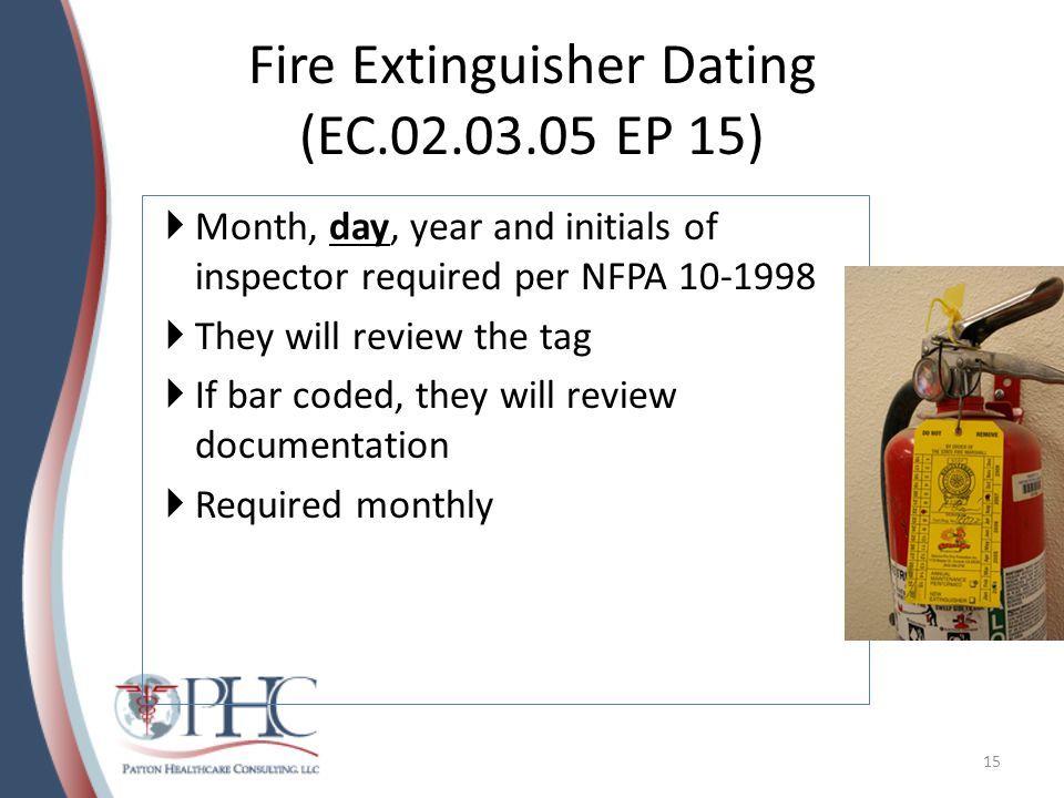 Fire Extinguisher Dating (EC.02.03.05 EP 15)