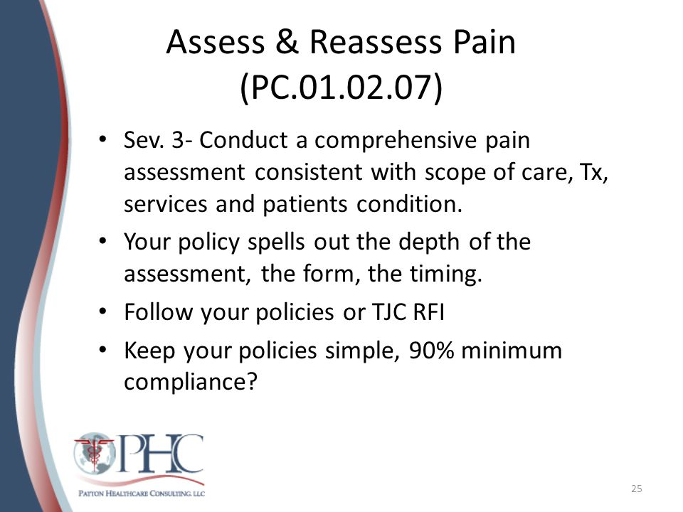 Assess & Reassess Pain (PC.01.02.07)