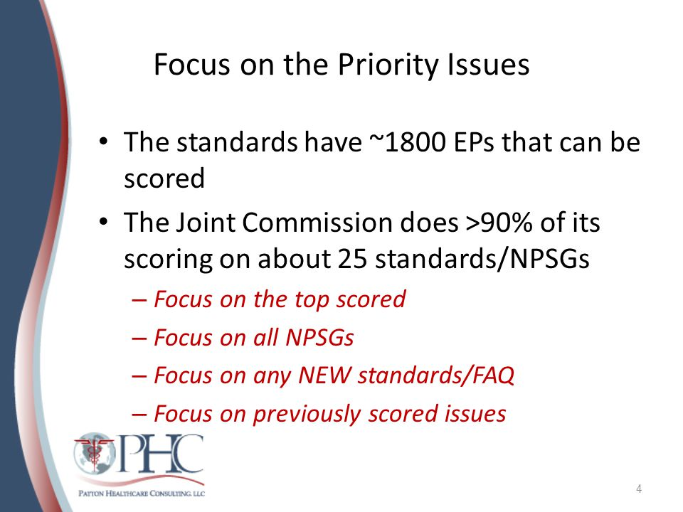 Focus on the Priority Issues