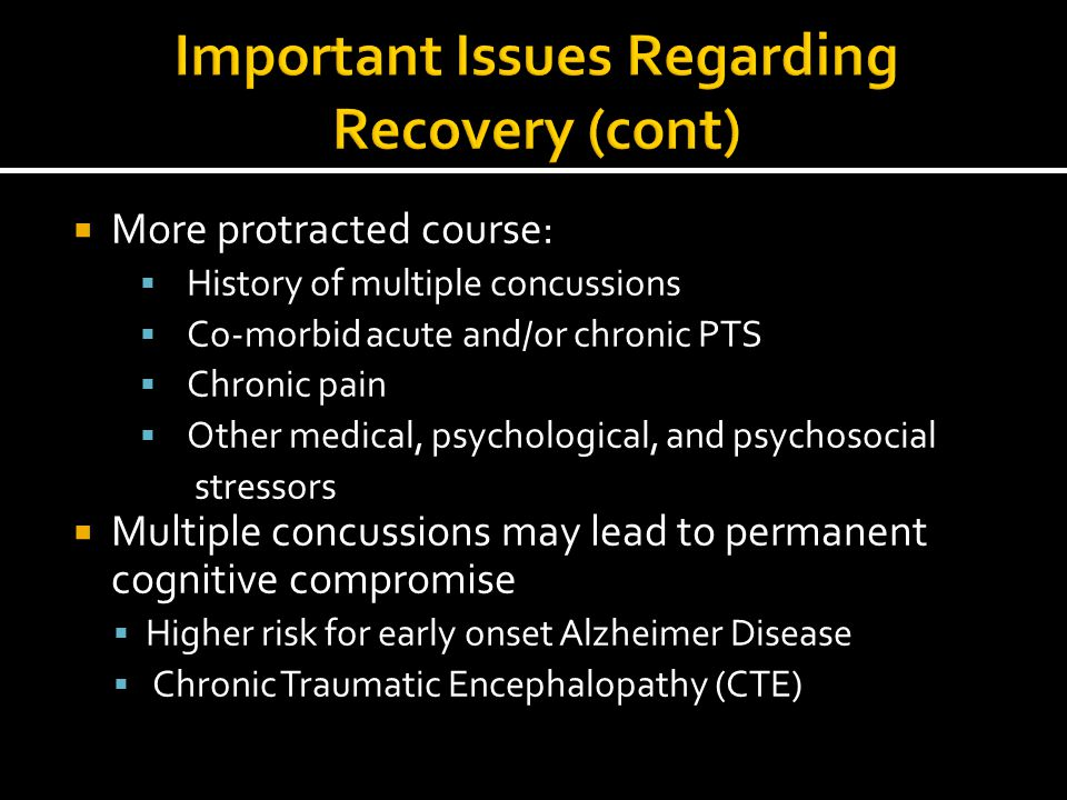 Important Issues Regarding Recovery (cont)