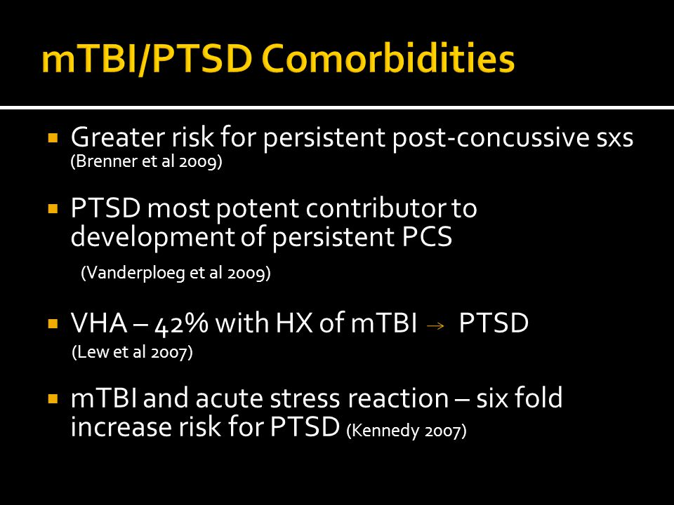 mTBI/PTSD Comorbidities