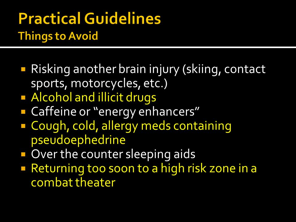 Practical Guidelines Things to Avoid