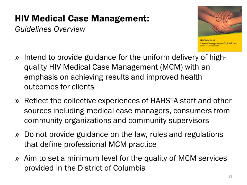 HIV Medical Case Management: Guidelines Overview