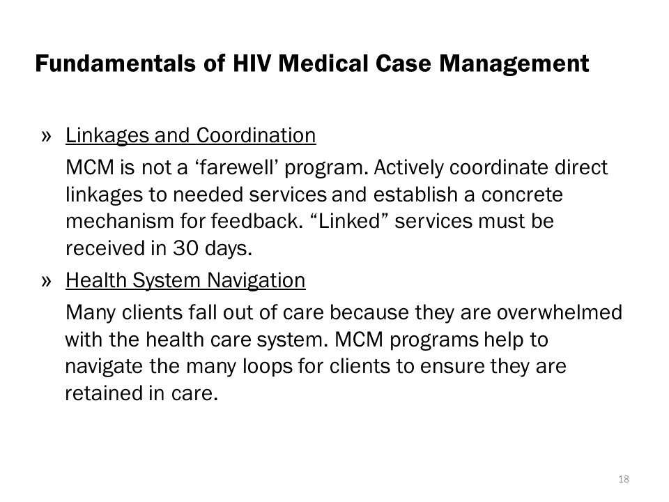 Fundamentals of HIV Medical Case Management