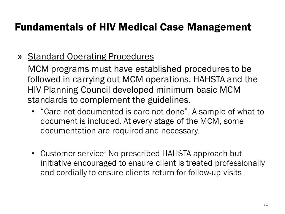 Fundamentals of HIV Medical Case Management